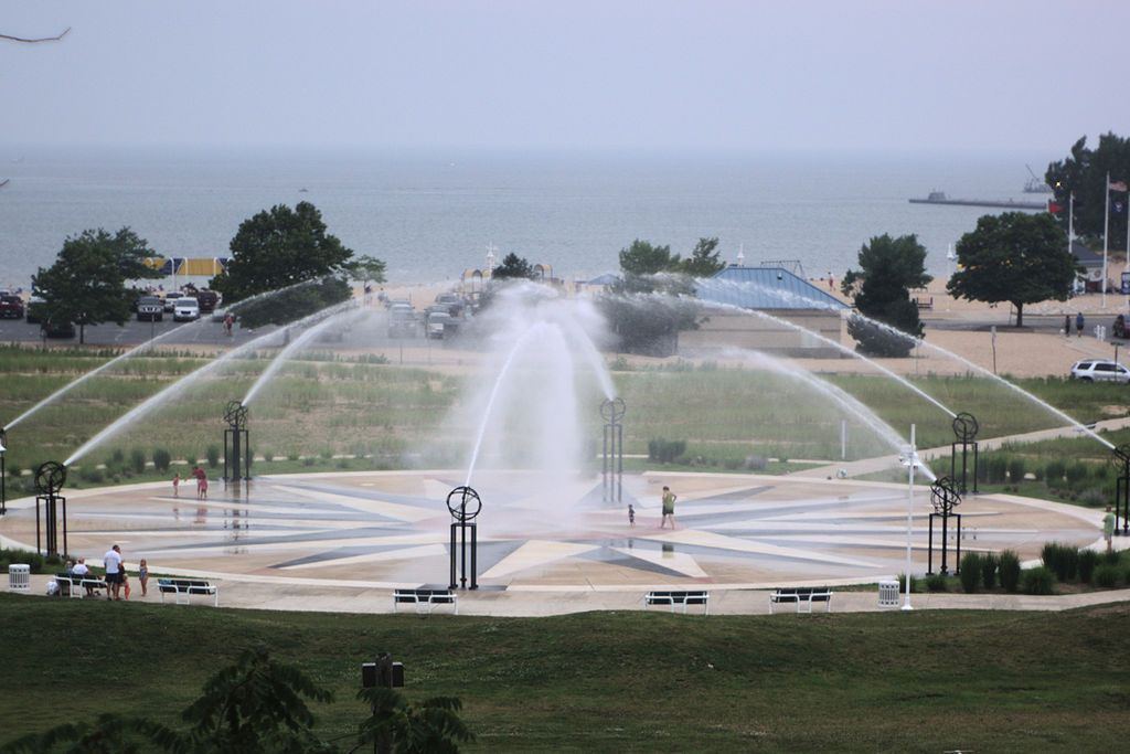 View of Whirlpool Compass Fountain