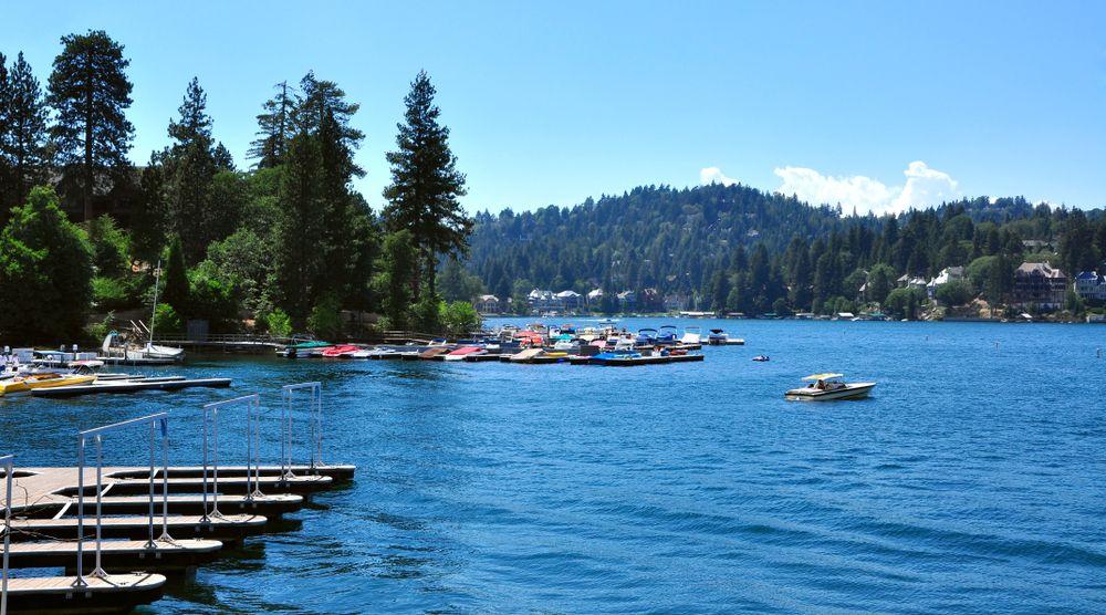 Boating in Big Bear Lake