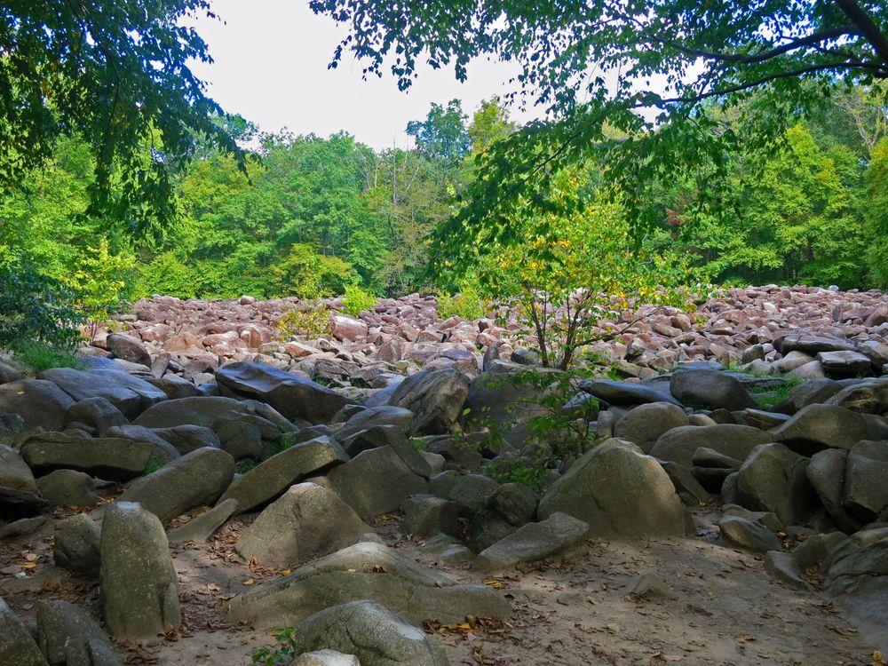 Boulders at Ringing Rocks County Park