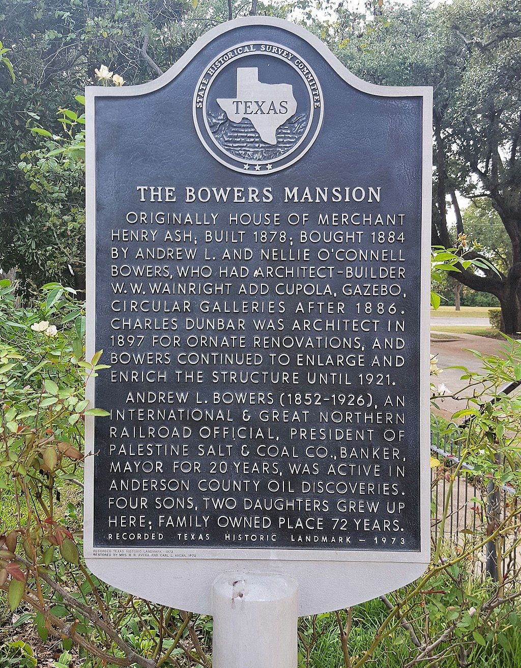 View of the Historic Bowers Mansion