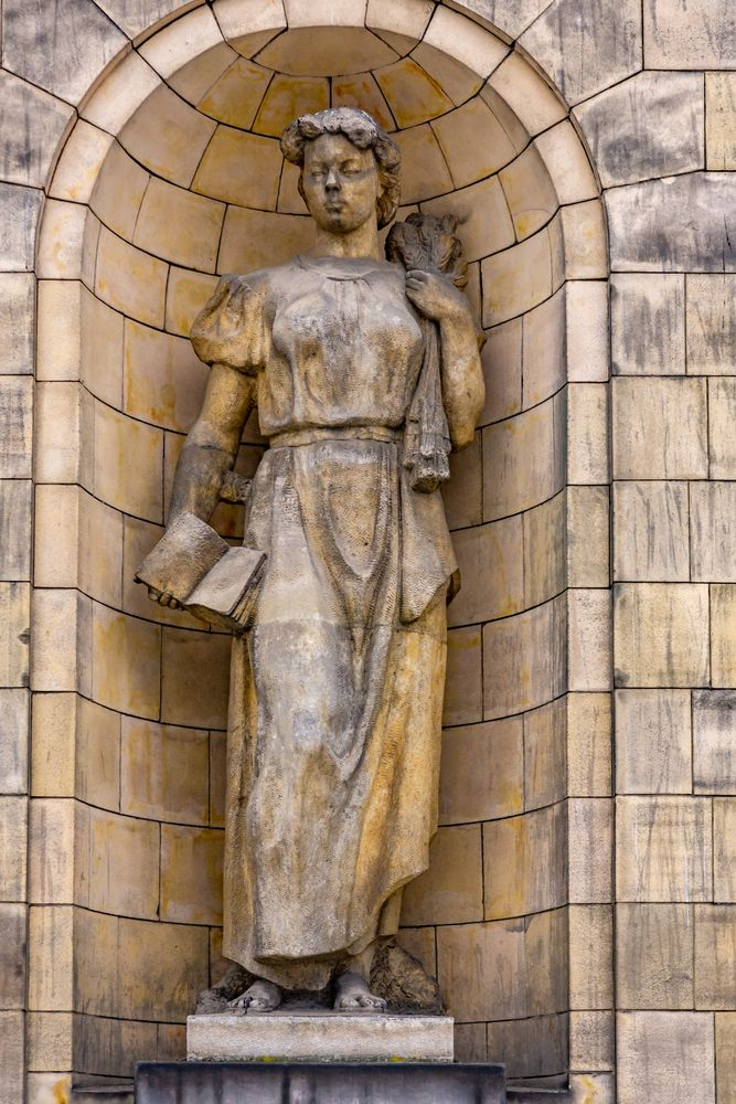 Statue at Palace of Culture and Science