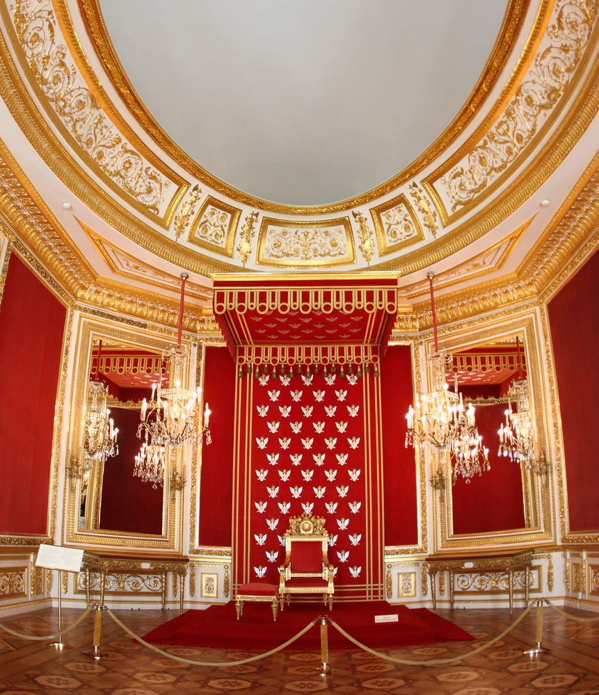 King's throne in Royal Castle in Warsaw