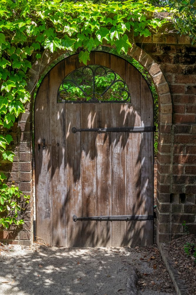Outdoor doorway at Sandhills Horticultural Gardens