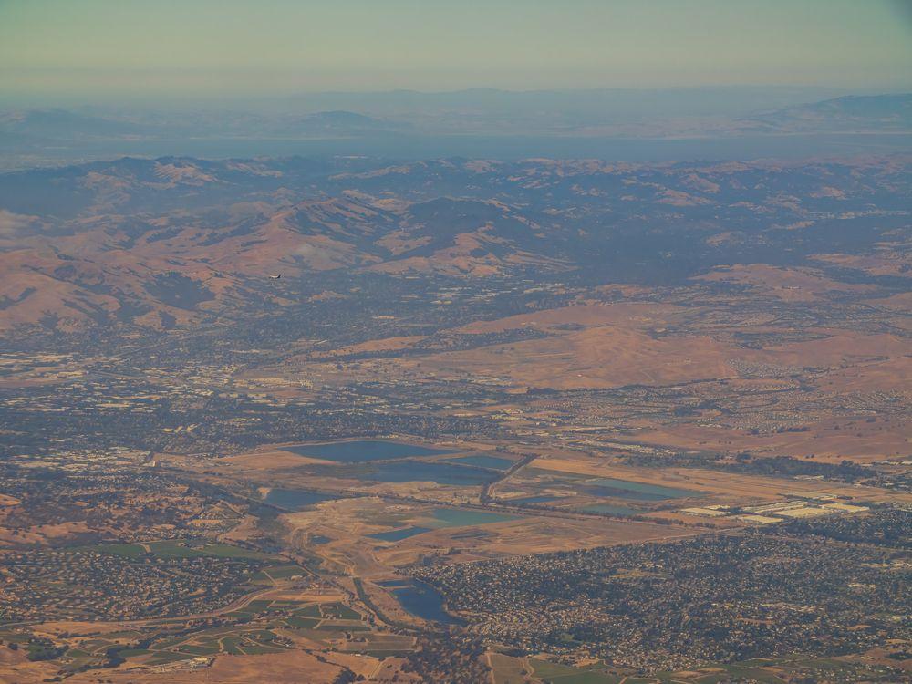 Aerial view of Shadow Cliffs Regional Recreational Area