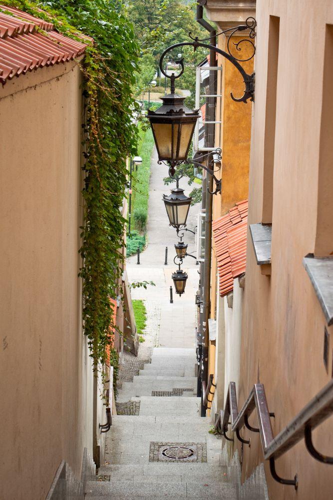 Narrow streets at Warsaw Old Town