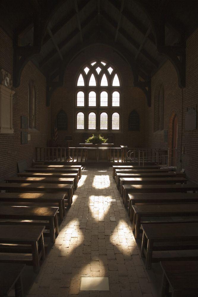 Interior of Jamestown Memorial Church