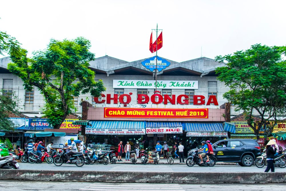 Front View of Dong Ba Market