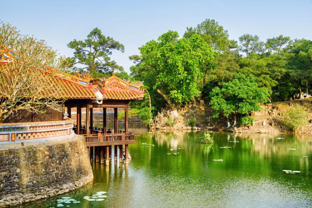 Beautiful View of Mausoleum of Emperor Tu Duc