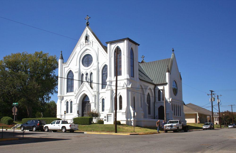 View of Sacred Heart Catholic Church