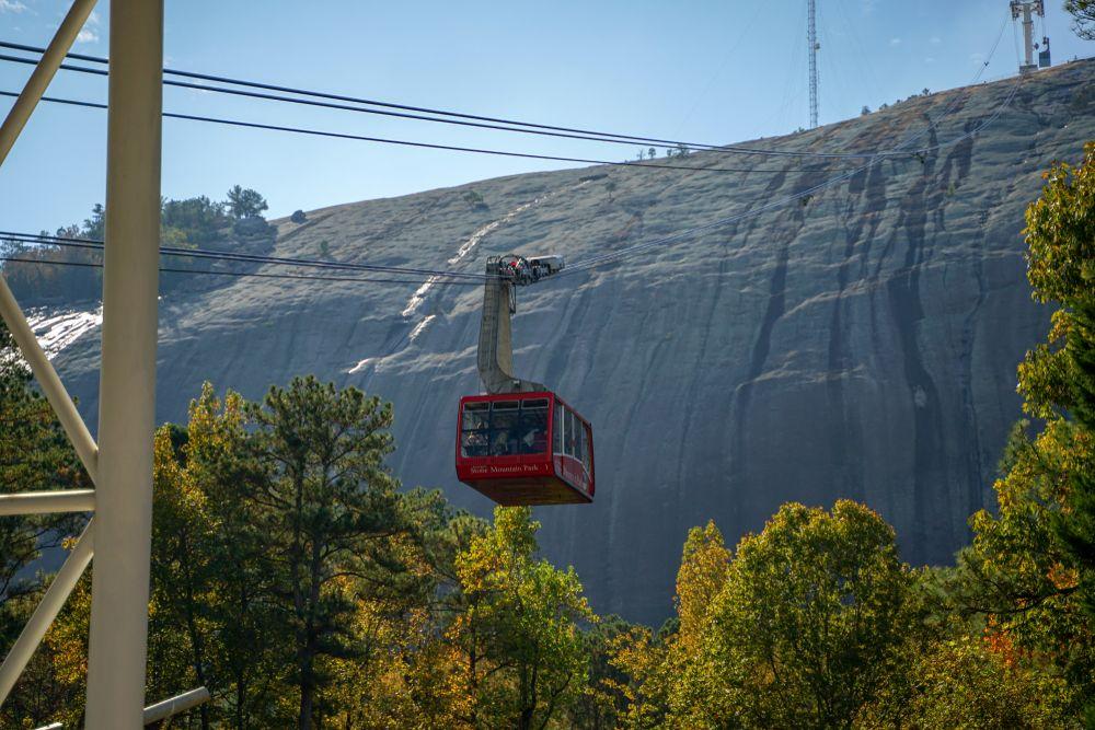 Summit skyride in Stone Mountain Park