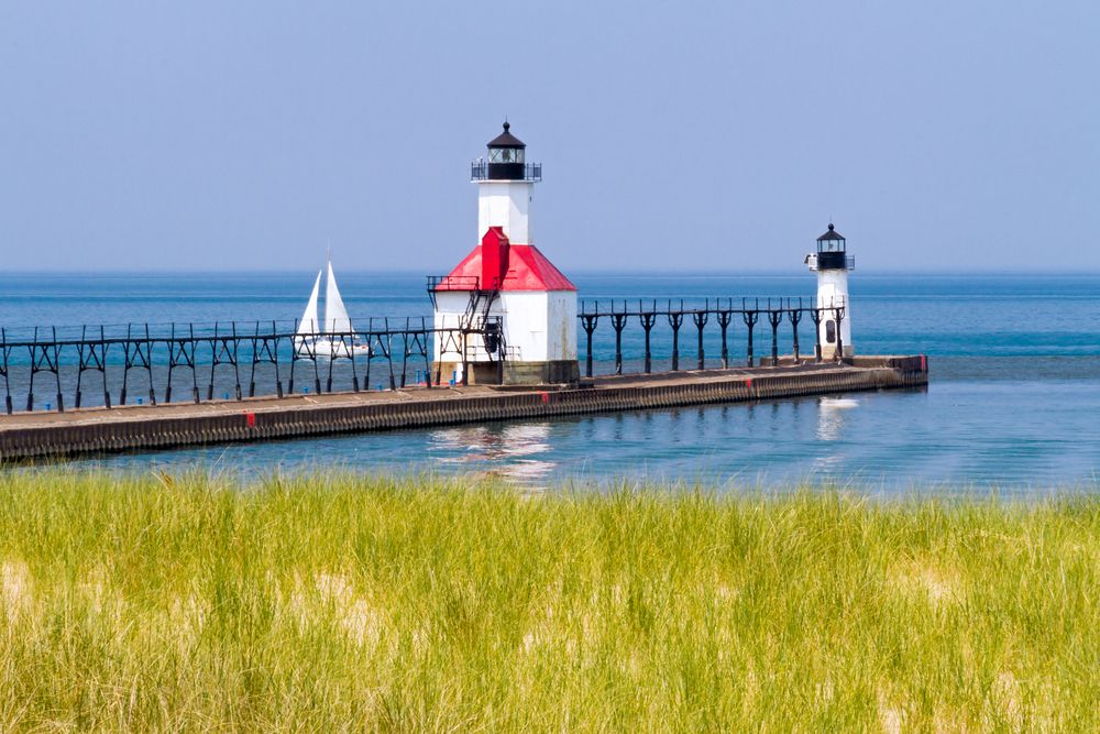 View of St. Joseph's North Pier Lighthouses