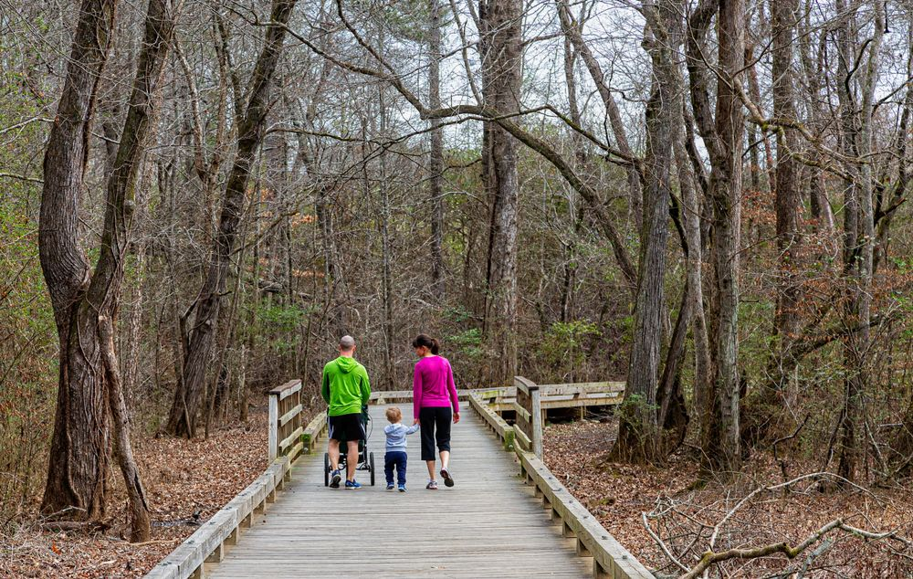 A Family in Big Creek Greenway