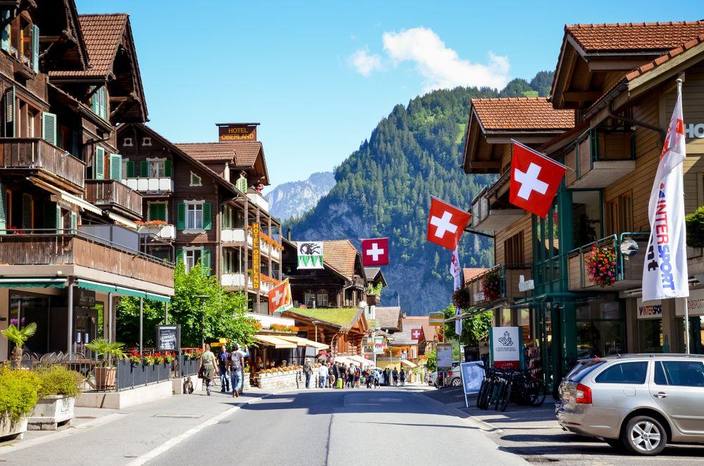 View of Lauterbrunnen village