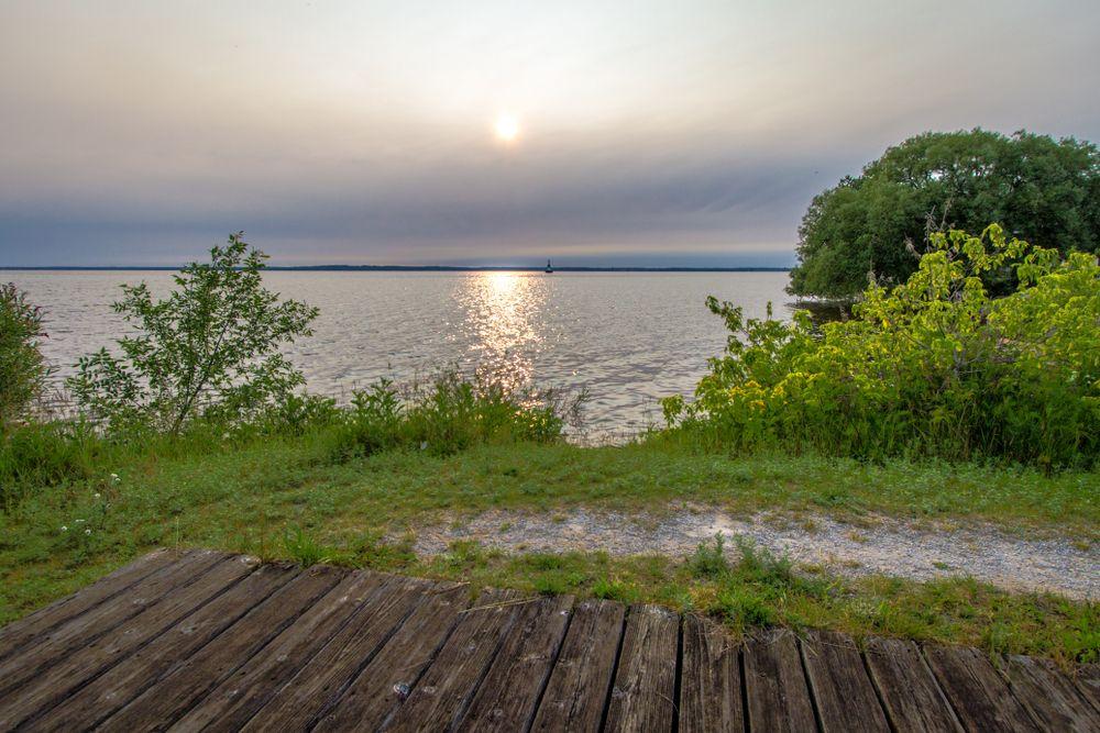 Lake Michigan in Escanaba's Ludington Park