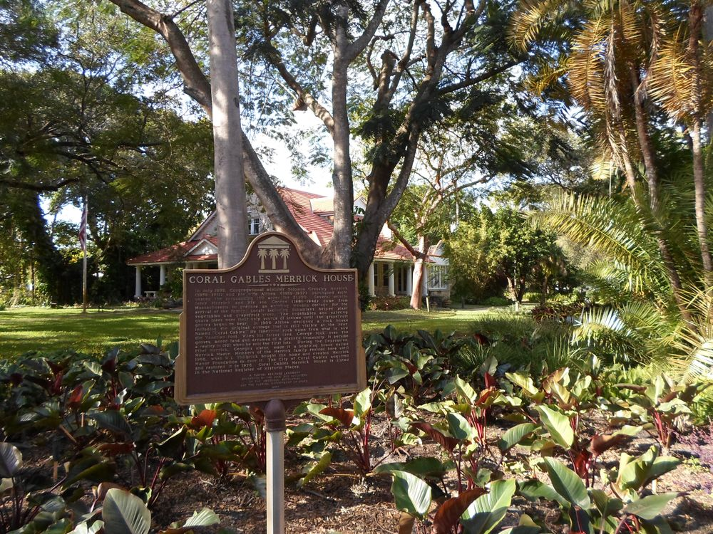 A Sign in  Coral Gables Merrick House