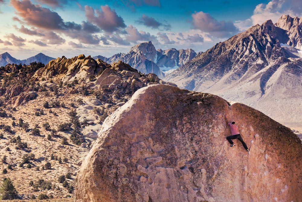 View of Buttermilk Boulders