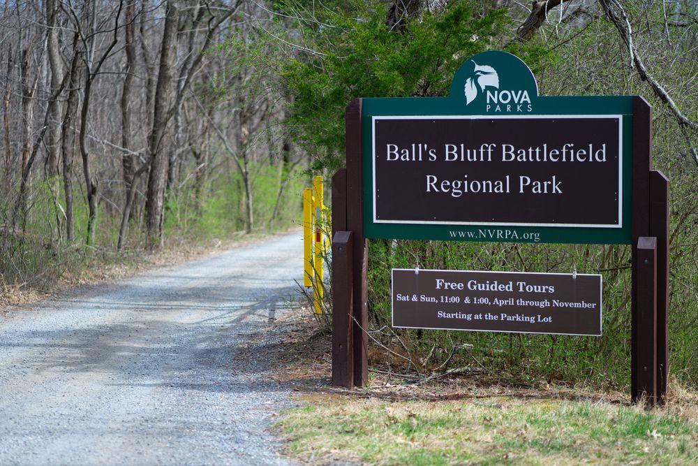 View of Ball's Bluff Battlefield Regional Park