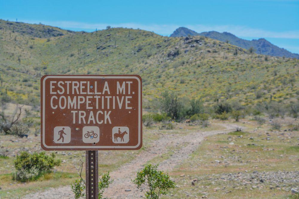 A Sign at Estrella Mountain Regional Park