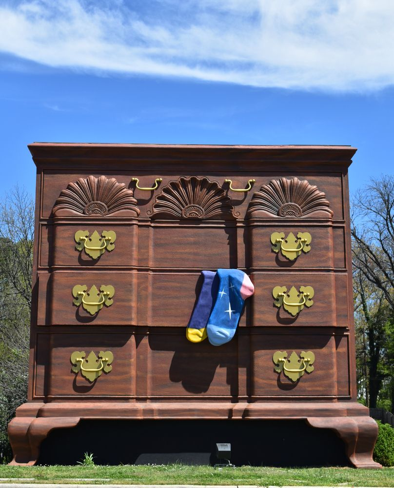 View of World's Largest Chest of Drawers
