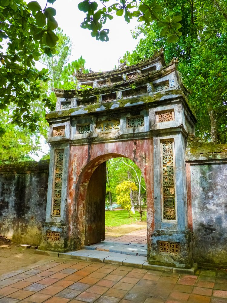 View of Mausoleum of Emperor Minh Mang