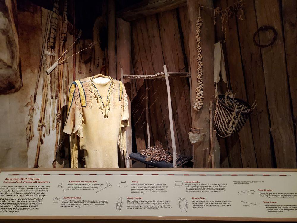Displays in Lewis and Clark Interpretive Center