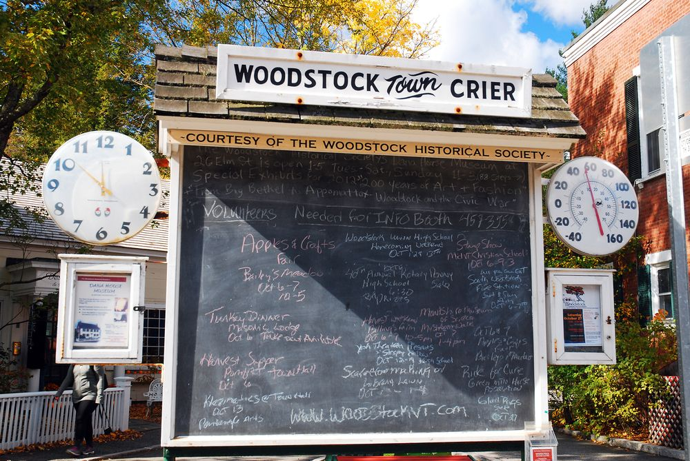 View of  Woodstock Town Crier