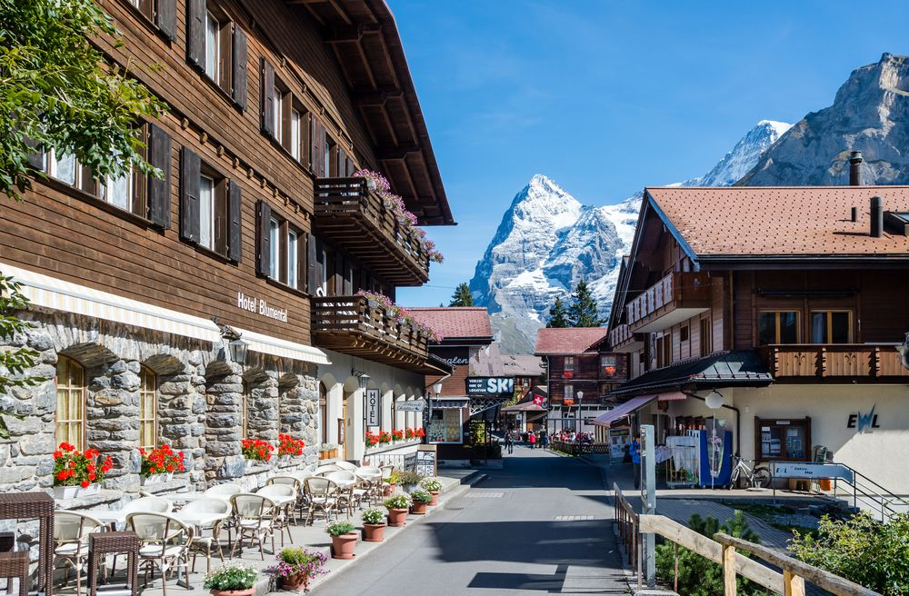 View of the Small Village of Murren