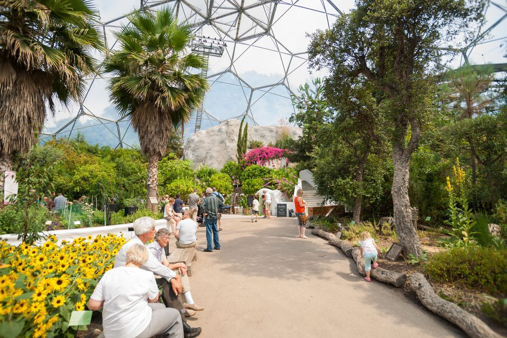 Inside View of  Eden Project