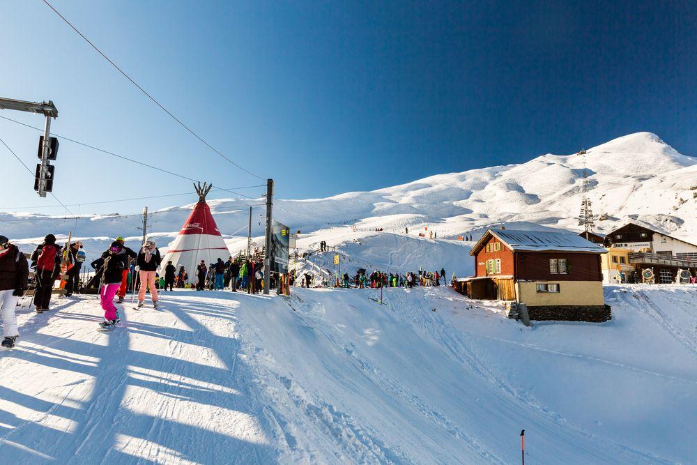 Skiing at Wengen