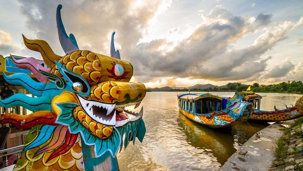 Dragon Boats in Perfume River