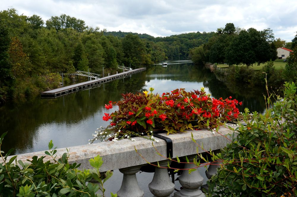 View of Lake Lure Flowering Bridge