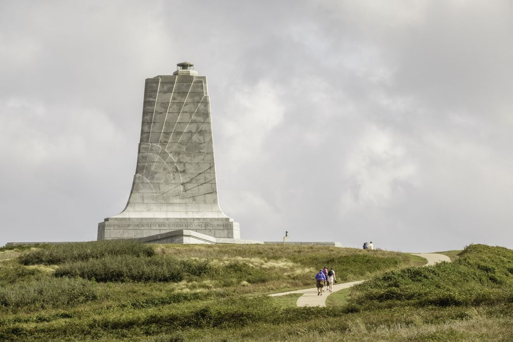 View of Wright Brothers National Memorial