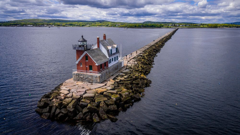 Scenic View at Rockland Breakwater Lighthouse